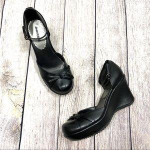 Vintage Bongo | Black Mary Jane Wedges Heels